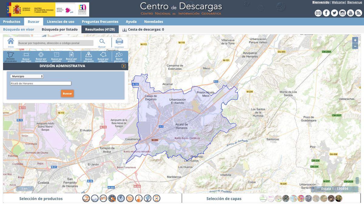 Término municipal en la web del Centro Nacional de Información Geográfica