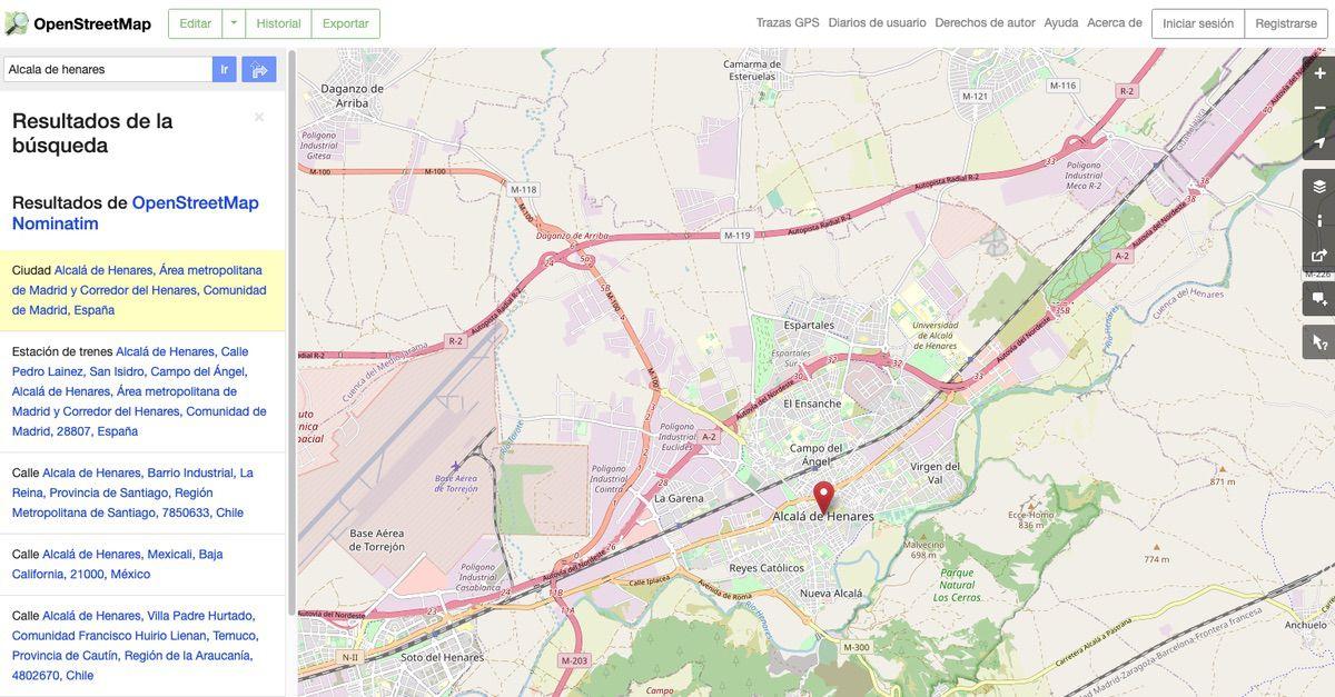 Buscando nuestro municipio en Open Street Map