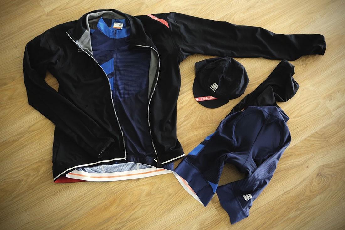 Maillot y Culote Sportful Bodyfit con chaqueta y perneras Fiandre